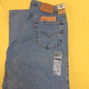 "NWT Altered Levi's 550 Men's Jeans 33"" x 27.5"""